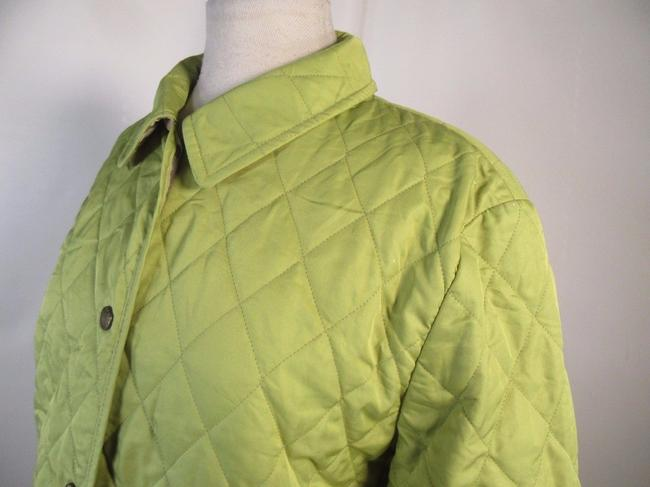Burberry London Quilted Nova Check Lime green Jacket Image 5