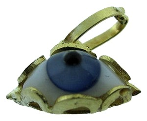 Other 14k,Yellow,Gold,White,Eye,Pendant,Charm,Necklace,