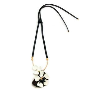 Marni Leather Lariat Necklace
