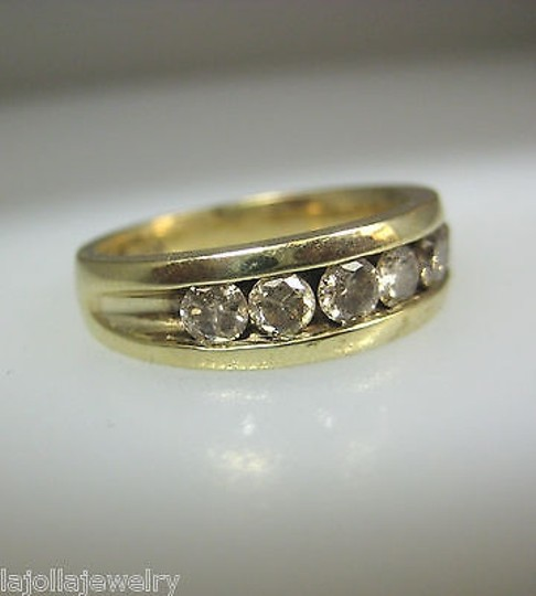 Other 10k,Yellow,Gold,Mens,Band,Diamond,Ring,,
