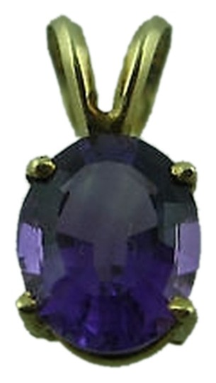 Other 14k,Yellow,Gold,Amethyst,Stone,Pendant,Necklace,Charm