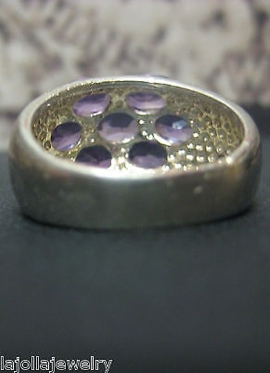 Other .925,Sterling,Silver,Ladies,Purple,Stone,Ring,Size,5.75