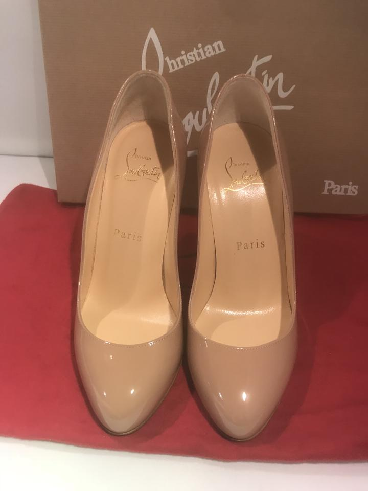 Louboutin Pumps Merci Patent 100 Allen Christian Leather Nude R0dqfPxw
