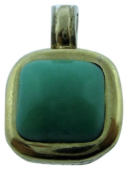 Other Sterling,Silver,14k,Yellow,Gold,Turquoise,Pendant,Charm,Necklace,