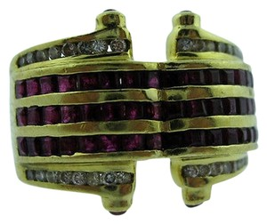 Other 18k,Yellow,Gold,Ruby,Diamonds,Ladies,Ring,