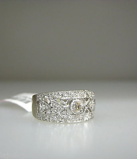 Other 14k,White,Gold,Micro,Pave,Diamonds,Ladies,Ring,,