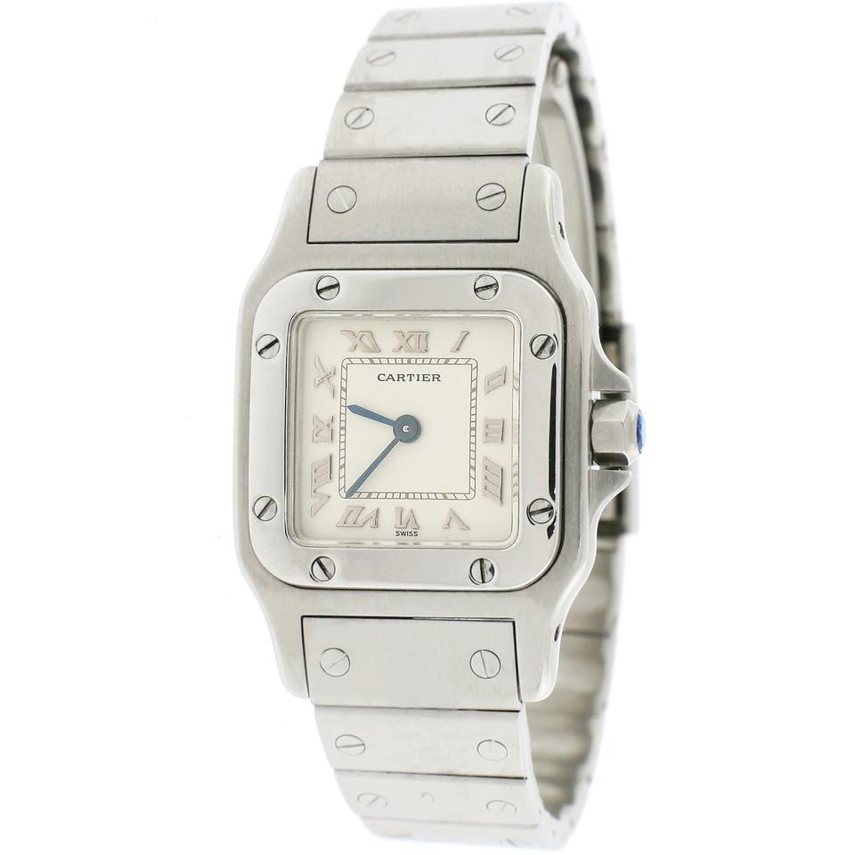 steel santos cartier image x dial white watches