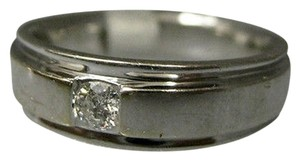 14k,White,Gold,Diamond,Band,Mens,Ring,,