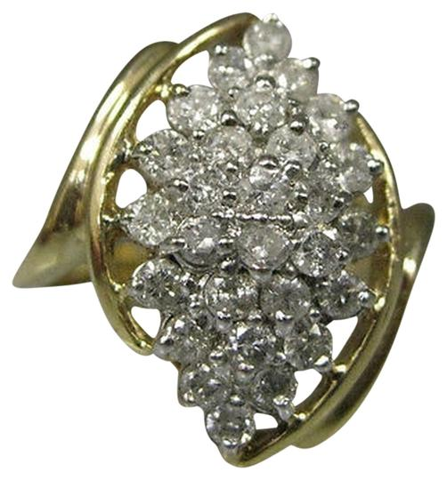 Other 14k,Yellow,Gold,Ladies,Diamonds,Cluster,Ring,Size,7