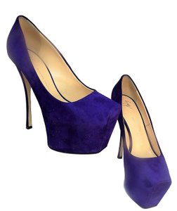 Giuseppe Zanotti Stiletto Platform Royal Blue with Deep Purple Hues Pumps