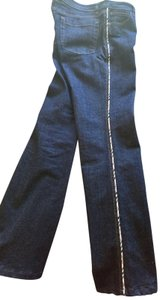 Burberry Trousers Pants Nova Check Straight Leg Jeans-Medium Wash