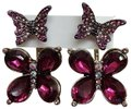 Betsey Johnson Betsey Johnson New Hot Pink Butterfly Earrings Image 0