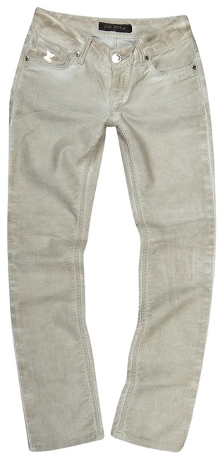 Item - Cream Women's 26/30 Slim Skinny Denim Fabric Italy Straight Leg Jeans Size 26 (2, XS)