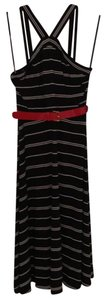Tommy Hilfiger short dress black/white stripe Flattering on Tradesy