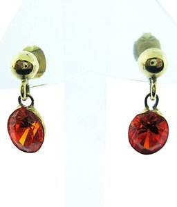 Other Fine,Estate,14k,Yellow,Gold,Orange,Stone,Earrings,
