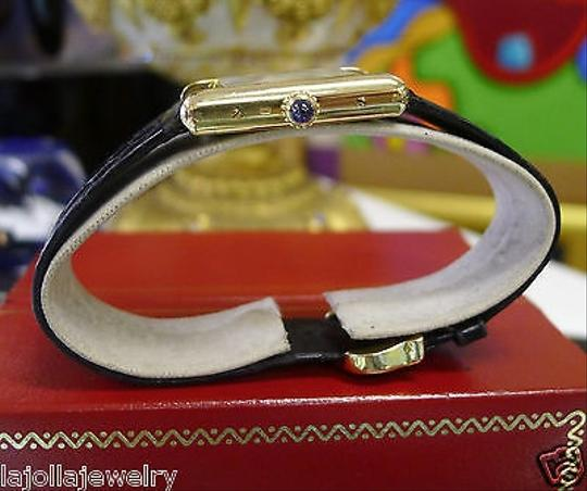 Cartier Ladies,Vintage,Cartier,Tank,Vermeil,18k,Gold,Roman,Numeral,Watch,With,Papers