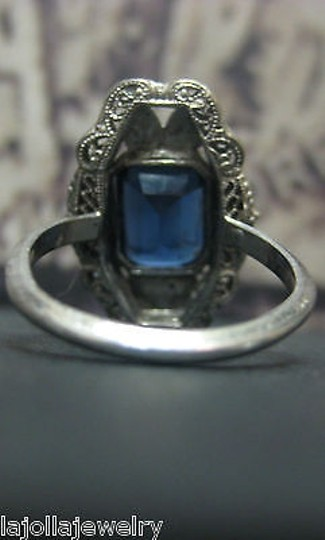 Other .925,Sterling,Silver,Ladies,Blue,Stone,Ring,Size,7