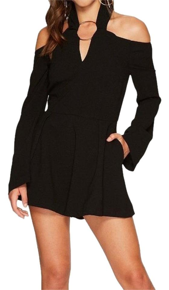 e951eae1d267 Keepsake the Label Black Darkest Light Long Sleeve Playsuit Casual Dress