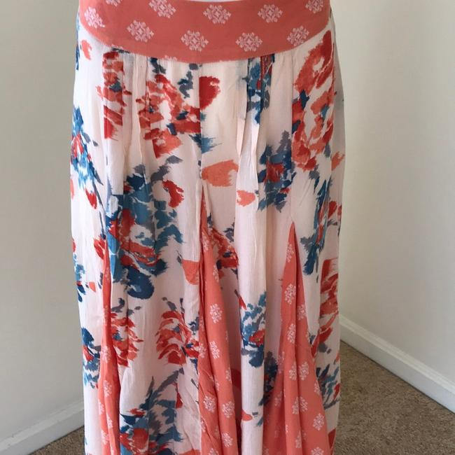 Free People Skirt Coral with Teal Image 1