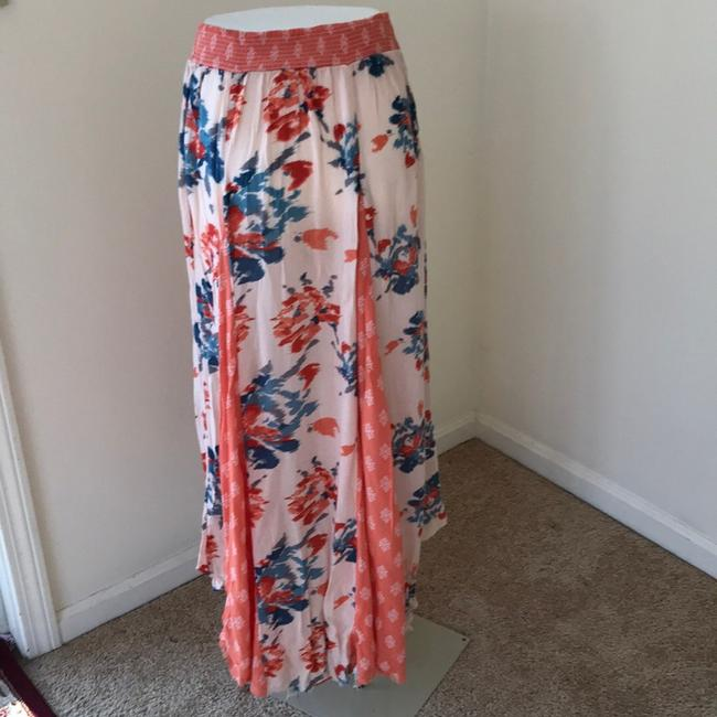 Free People Skirt Coral with Teal Image 2