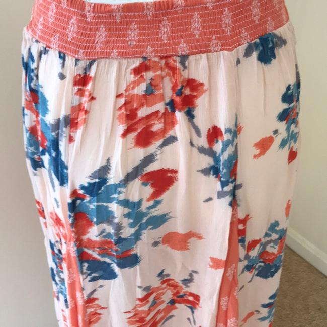 Free People Skirt Coral with Teal Image 3