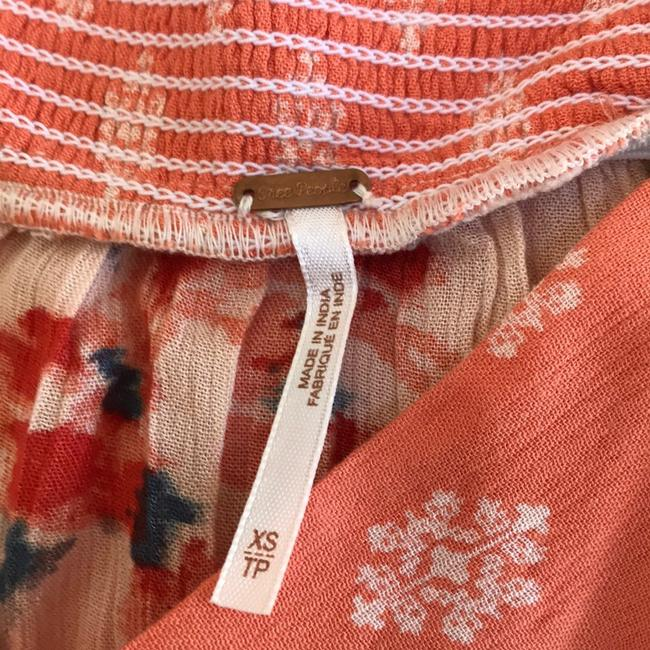 Free People Skirt Coral with Teal Image 4