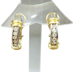 Other Fine,Estate,14k,Multi,Tone,Gold,Diamond,Earrings,