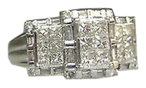 14k,White,Gold,Princess,Cut,Invisible,Set,Diamonds,Ladies,Ring,,
