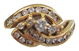 14k,Yellow,Gold,Diamond,Ladies,Ring,,