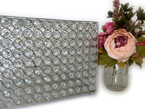 Silver Wedding Crystal Card Box Handmade Sparkle Beads Money Bank