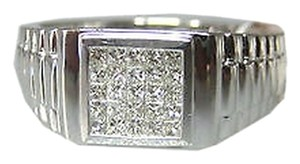 Other 18k,White,Gold,Princess,Cut,Invisible,Diamonds,Ladies,Ring,,