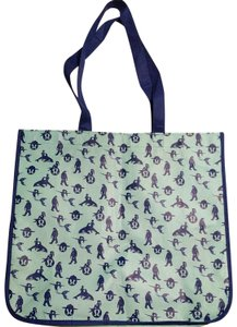 Lululemon Mermaid Re-useable Extra Large Tote in Blue and seafoam green