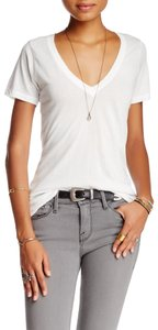 Free People Small Cotton T Shirt Ivory
