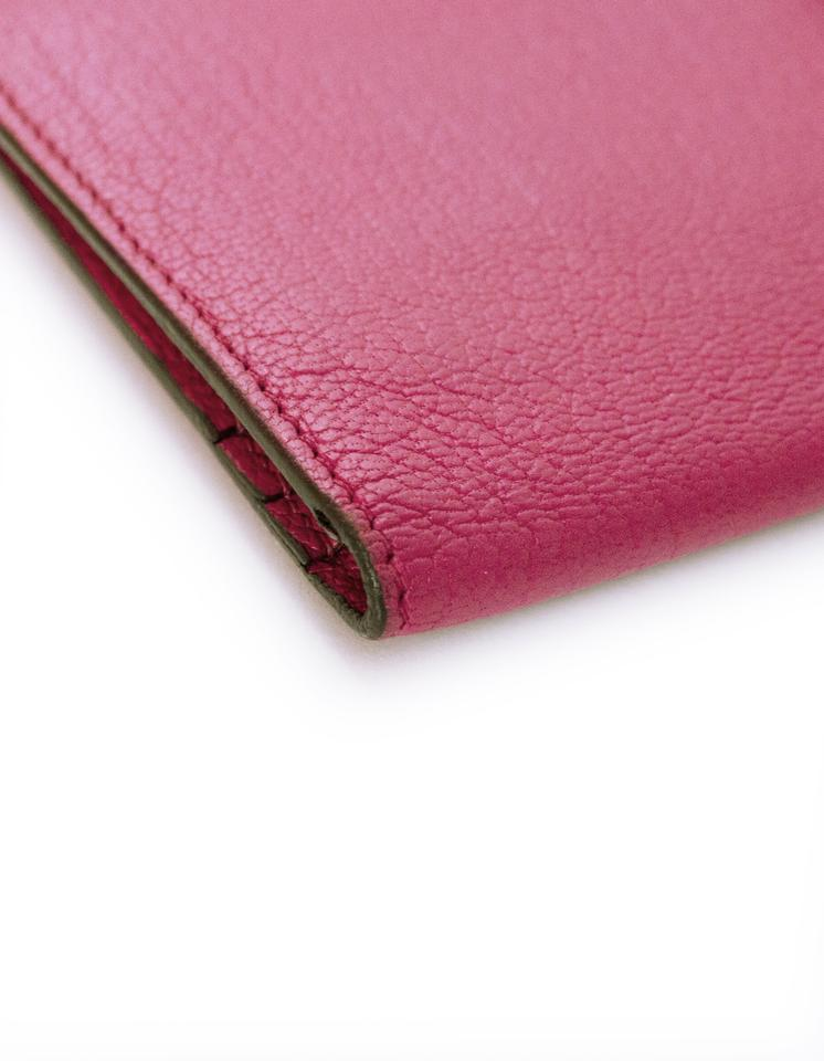 78b13c470a2f Hermès Hermes Rose Tyrien Chevre Mysore Leather Bearn Wallet with Box Image  9. 12345678910