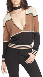 Free People Colorblock Small Sweater