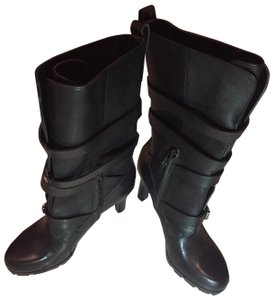 Lauren Ralph Lauren Leather Heels Black Boots