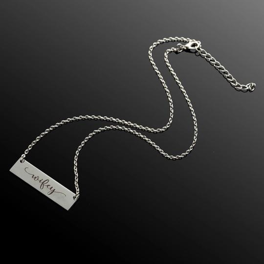 QueenEsthershop Ladies Stainless Steel Wifey Necklace Image 2