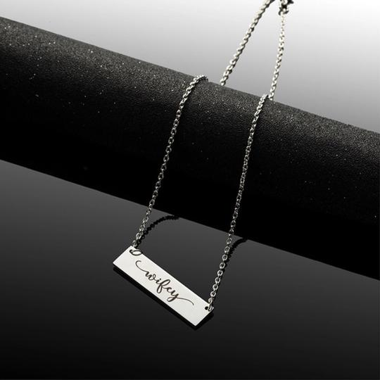 QueenEsthershop Ladies Stainless Steel Wifey Necklace Image 4