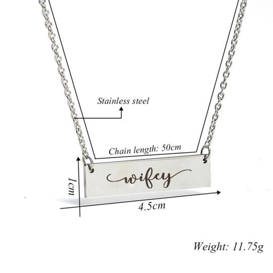 QueenEsthershop Ladies Stainless Steel Wifey Necklace Image 5