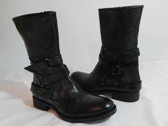 Vera Wang Lavender Label Leather Gray Boots Image 1
