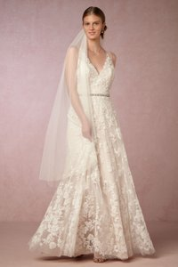 BHLDN Ivory/Cream Lace Blair Style ##40459968 Feminine Wedding Dress Size 00 (XXS)