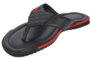 Gucci Men's Flip Flop Black Sandals