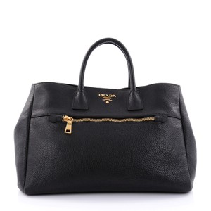 Prada Front Pocket Tote in black