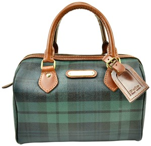 aa141dade860 Polo Ralph Lauren Shoulder Vintage Tartan Purse Hunter Green Plaid ...