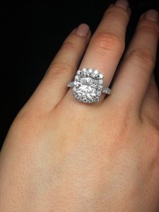 Insanely Sparkly 4.77 Carat Cushion Cut Diamond Engagement Ring