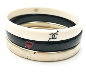 Chanel Chanel Gold Ivory Black Love Arrow CC Bracelet Bangle