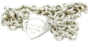Tiffany & Co. Return to Tiffany & Co. Heart Tag Choker Necklace in Sterling Silver
