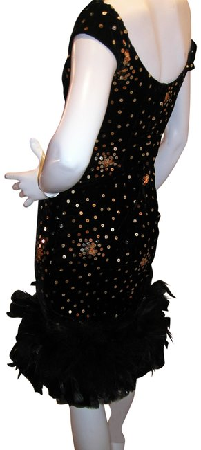 Just Female Feathers Sequin Sequin Vintage Dress Image 10
