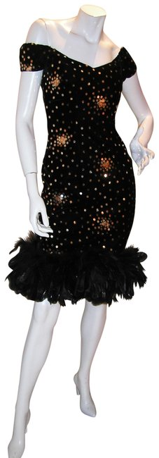 Just Female Feathers Sequin Sequin Vintage Dress Image 11
