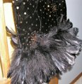 Just Female Feathers Sequin Sequin Vintage Dress Image 2